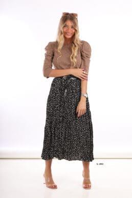 חצאית פרחונית+ חגורה