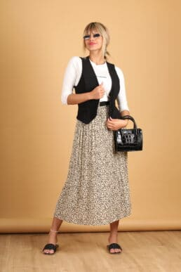 חצאית פליסה+ חגורה