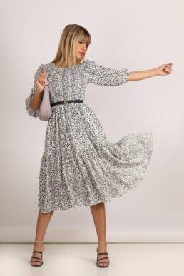 שמלת קלרה משובצת